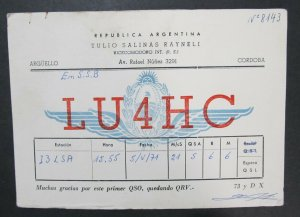 6099 Amateur Radio QSL Card Arguello Cordoba Argentina