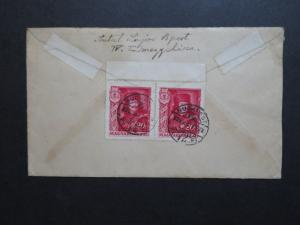 Hungary 1935 Cover to USA / Pair - Z8644