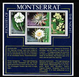 Montserrat-Sc#369a-unused NH sheet-Flowers of the Night-1977-