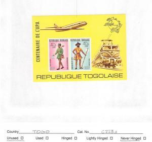 Lot of 11 Togo MNH Mint Stamps Scott # 1005a, C223a, C273a #140312 X