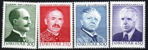 Faroe Islands #108-11 MNH  CV $3.30 (P644)