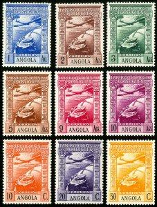 Angola Stamps # C1-9 MNH VF Scott Value $47.50