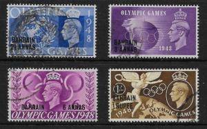 BAHRAIN SG63/6 1948 OLYMPIC GAMES USED