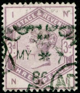 SG191, 3d lilac, USED. Cat £100. NI