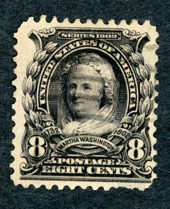 #306 – 1902 8c Martha Washington. Used.