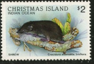 CHRISTMAS IS. Sc#210 1987 Shrew Top Value Mint OG H
