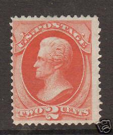 US Sc 178 MLH. 1875 2c vermillion Jackson, Scarce