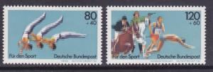 Germany B609-10 MNH 1983 Sports Championships Gymnastics Pentathlon Set