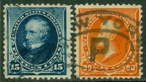 EDW1949SELL : USA 1890 Scott #227, 229 Fine-Very Fine, Used. Catalog $165.00.