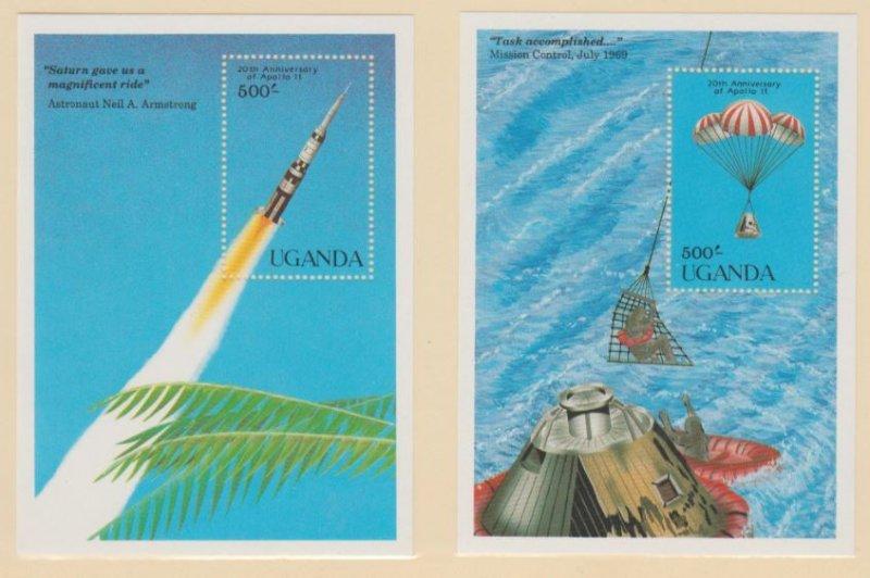 Uganda Scott #701-702 Stamps - Mint NH Souvenir Sheet