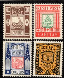 Estonia Scott B36-B39 Mint never hinged.