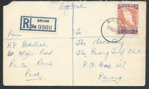 MALAYA PERAK 1960 Registered cover ex BRUAS................................65415