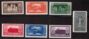 Italy Scott 232-238 MH* 1929 Monte Cassino set  CV $42.45