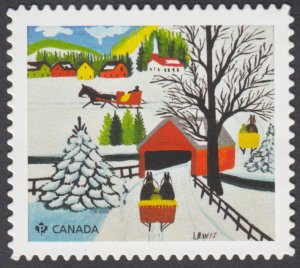 Canada - *NEW* Christmas, Maud Lewis 2020, Die Cut  From Quarterly Pack - MNH