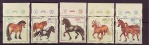 J25264 JLstamps 1997 germany set mnh #b813-7 horses