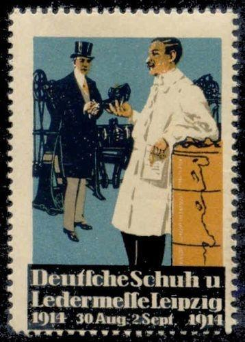 Germany 1914 Shoe & Leather Show Poster Stamp