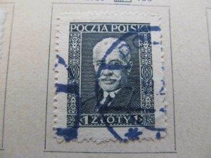 A13P8F98 Polen Polska Pologne Poland 1928 1z laid paper fine used stamp