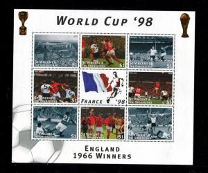 St. Vincent Grenadines MNH, France 1998 World Cup Soccer (football). x22603
