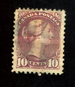 CANADA #40 USED F-VF PAPER HR Cat $85
