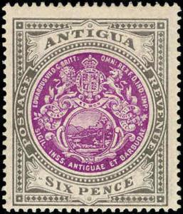 Antigua #26, Single Incomplete Set, Hinged
