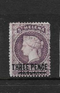 ST HELENA  1864-80  3d   QV  MH  SG 11