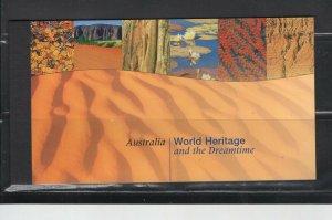 UN -NY #756 (1999 Australian World Heritage Prestige booklet) VFMNH CV $35.00
