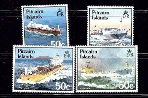 Pitcairn Is 258-61 MNH 1985 Ships         #2