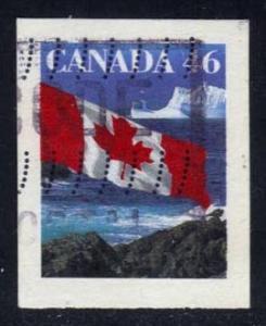 Canada #1698 Flag over Icebergs, used (0.65)