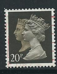 GB QE  II  SG 1469 Harrison per 15 x 14 phosporised paper  Used   from booklet