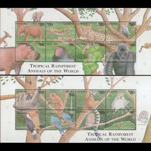 GUYANA 2001 - Scott# 3675-6 Sheets-Rainforests NH