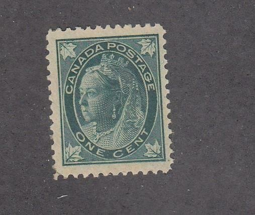 CANADA # 67 VF-MNH 1ct QUEEN VICTORIA LEAF ISSUE CAT VALUE $210