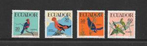 BIRDS - ECUADOR #645-8  MNH