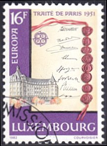Luxembourg # 673 used ~ 16fr Treaty of Paris