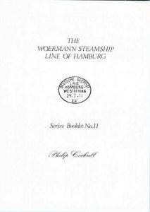 WOERMANN STEAMSHIP LINE HAMBURG Deutsche Seepost Ost Westafrika 1890-1965
