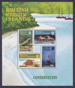Virgin Islands 349a MNH 1979 Conservation Souvenir Sheet of 4 Very Fine