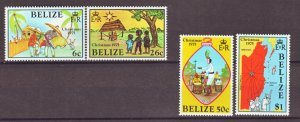 J22395 Jlstamps 1975 belize set mh #370-3 xmas