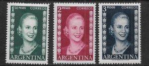 ARGENTINA 608-610 MNH EVA PERON