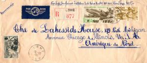 Togo 2F Cotton Spinners, 20F Houses of the Cabrais, and 100F Plane 1952 Lome,...