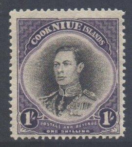 Cook Islands Scott 112 - SG127, 1938 George VI 1/- MH*