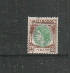 Malaya Penang 1954 $5 Used SG 43