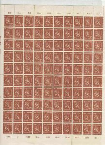Finland Mint Never Hinged Stamps Sheet - some creasing+will post folded Rf 28252