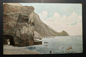 1908 Minawn Cliff Achill Island Co Galway Ireland Real Picture Postcard Cover