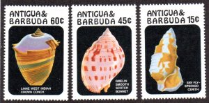 ANTIGUA & BARBUDA 943-5 MNH SCV $4.40 BIN $2.65 SHELLS