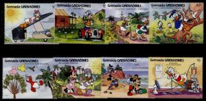 Grenada Grenadines 1288-98 MNH Disney, Ecology, balloon, Nature