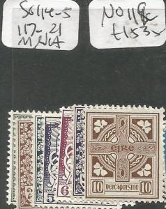 Ireland SG 114-5, 117-21, No SG 199c MNH (6chb)
