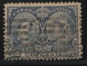 Canada, 60, USED, 1897, Queen Victoria 1837 and 1897