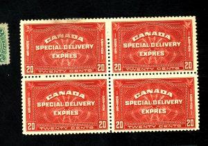CANADa #E4 MINT BLOCK F-VF NO GUM Cat $260