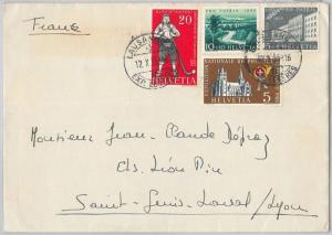 65718 - SWITZERLAND  - POSTAL HISTORY: PRO PATRIA stamps on COVER to FRANCE 1953