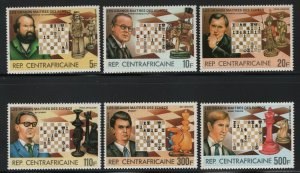 Central African Republic 1983 Chess Grand Masters set Sc# 576-81 NH