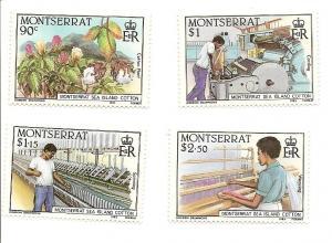 Montserrat 569-572 MNH